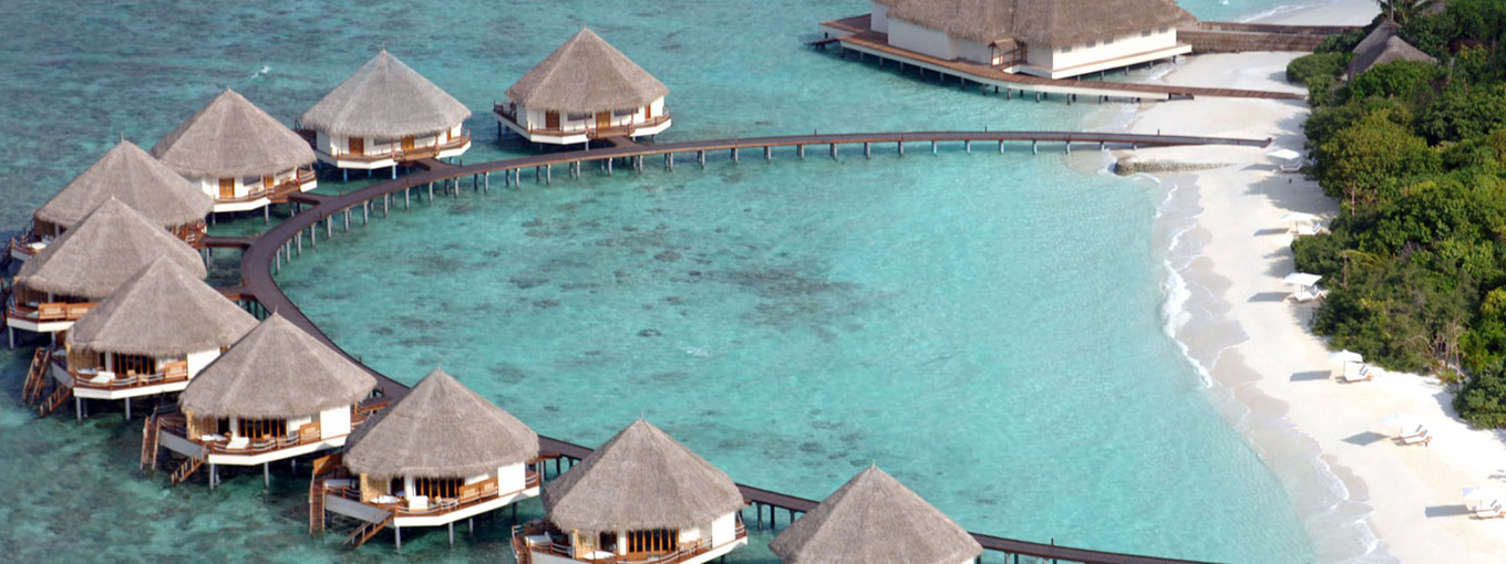 Arial view at Adaaran Prestige Water Villas