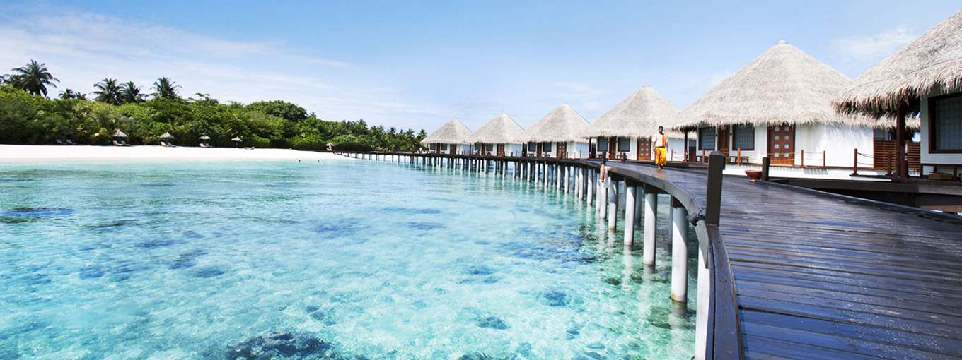 Beach view at Adaaran Prestige Water Villas